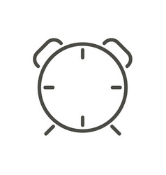 clock alarm icon line wake up symbol vector image