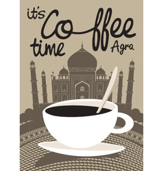 Coffee Taj Mahal vector