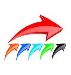 Colored up arrows vector