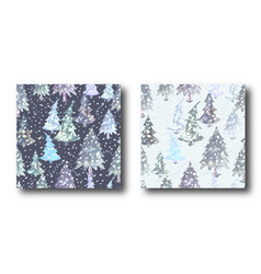 colorful seamless pattern set with christmas tree vector image