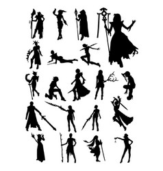 cosplay pose silhouette vector image