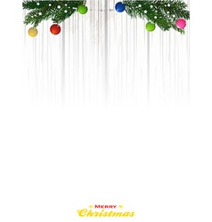 Cristmas copy space background on shading white vector image