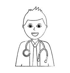 doctor physician medical staff portrait character vector image