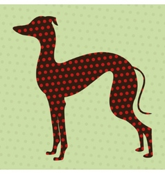 Dotted greyhound vector