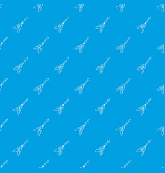 electric guitar pattern seamless blue vector image