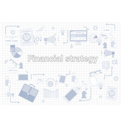 Financial strategy business economic development vector