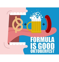 Formula Good Oktoberfest Open mouth long tongue vector