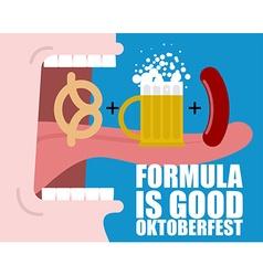 Formula Good Oktoberfest Open mouth long tongue vector image