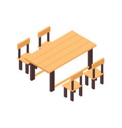 Garden furniture icon vector