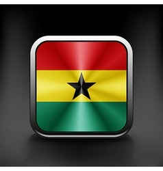 Ghana icon flag national travel icon country vector image