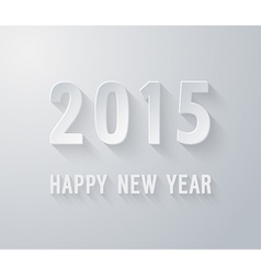 Happy new year 2015 paper postcard vector image