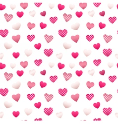 Happy valentines day seamless pattern with hearts vector