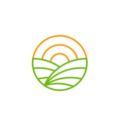 heat farm logo icon design vector image
