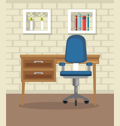 Home office place house vector