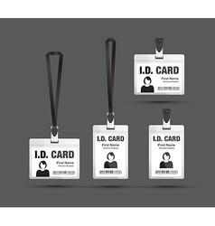 Id card woman black vector