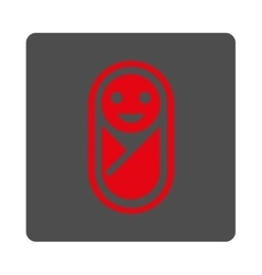 Infant Rounded Square Button vector