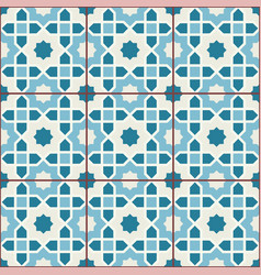 Islamic geometric seamless pattern background in vector