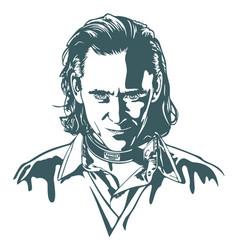 Loki avengers marvel tom hiddlest vector