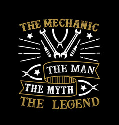 Mechanic man myth legend vector
