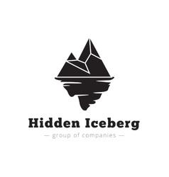 Minimalistic iceberg logo vector