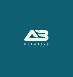 Monogram logo design combining letters a and b vector