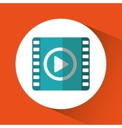 Movie film media design vector