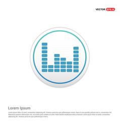 music sound wave icon - white circle button vector image