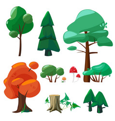 nature cartoon elements game ui collection of vector image