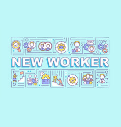 New worker word concepts banner vector