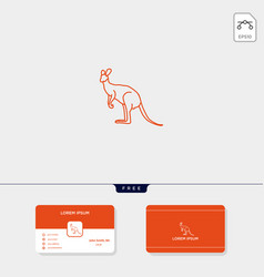 outline kangaroo creative logo template for vector image