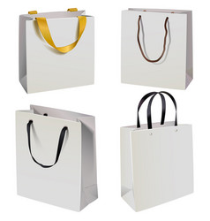 Paper bag icons vector