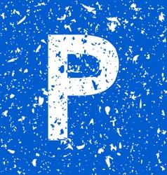 parking grunge vector image