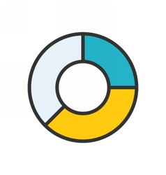 Pie Chart outline icon vector