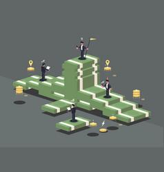 Pile money vector