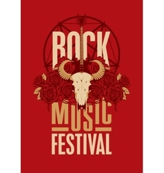 Poster for festival rock music vector