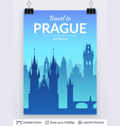 prague famous city scape vector image