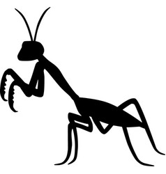 Praying mantis silhouette bug insect vector