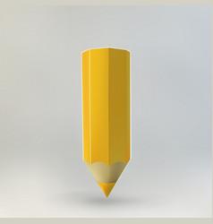 Red pencil icon vector