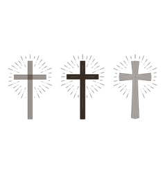 Religion cross icon or symbol vector