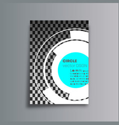 rotating circles cover background for the banner vector image