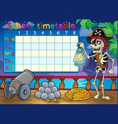 School timetable topic image 9 vector
