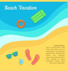 sea rest concept beach swimming cartoon style vector image