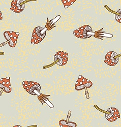 Seamless pattern of amanita vector image