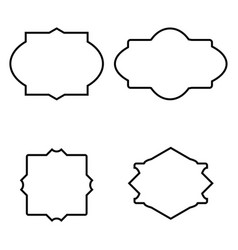 set of simple frames vector image