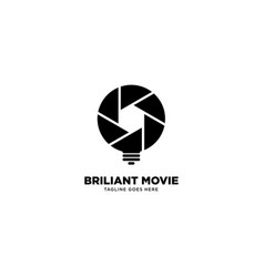 Smart movie logo template icon element vector
