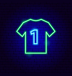 Sport t-shirt neon sign vector