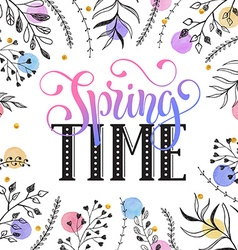 Spring time greeting cerd vector image