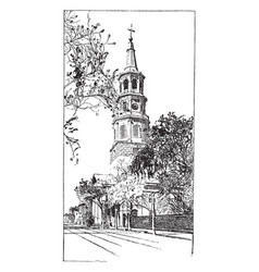 St michaels church vintage vector