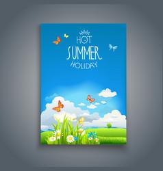 summer happy template vector image