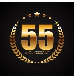 Template Logo 55 Years Anniversary vector